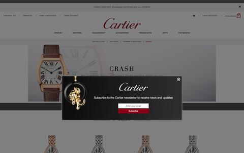 Crash women's watch: white gold, pink gold, diamonds - Cartier