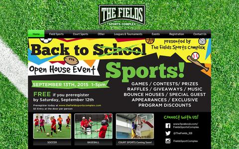 Screenshot of About Page thefieldssportscomplex.com - THE FIELDS Indoor Sports Facility - captured Aug. 15, 2015