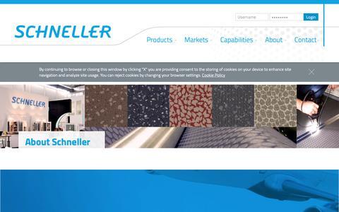 Screenshot of About Page schneller.com - About - Schneller - captured Oct. 2, 2018