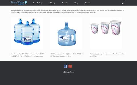 Screenshot of Pricing Page prismwaterco.com - Pricing - Prism Water - captured July 22, 2018