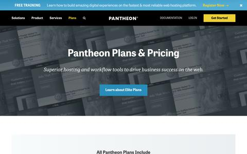 Screenshot of Pricing Page pantheon.io - Which Plan Is Right for You? | Pantheon Pricing - captured July 13, 2018