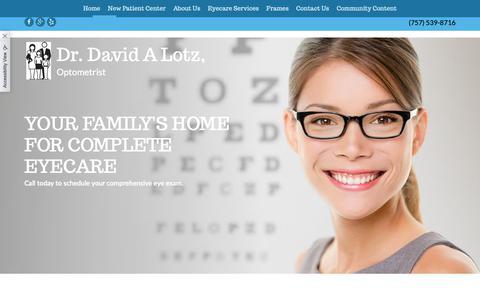 Screenshot of Home Page drlotzva.com - Home - captured Oct. 9, 2018