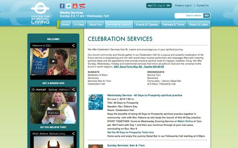 Screenshot of Services Page spiritualliving.org - Services & Support | Center for Spiritual Living - captured Oct. 2, 2014
