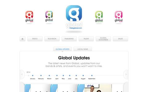 Screenshot of Press Page thisisglobal.com - Global Updates | This is Global - captured Sept. 23, 2014