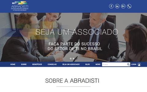 Screenshot of Home Page abradisti.org.br - Abradisti - captured July 27, 2018