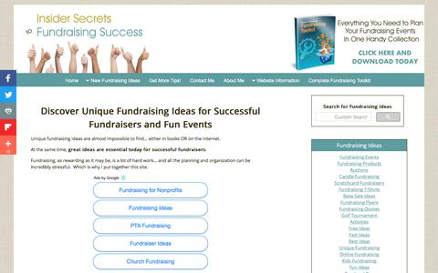 Screenshot of Home Page all-unique-fundraising-ideas.com - Unique Fundraising Ideas for Successful Fundraisers and Fun Events - captured June 29, 2018