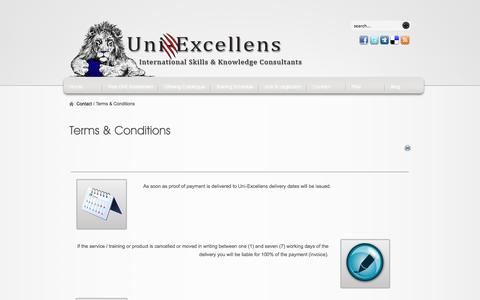 Screenshot of Terms Page uni-excellens.com - Terms & Conditions - captured Oct. 7, 2014