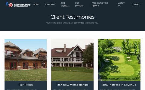 Screenshot of Testimonials Page course-logix.com - Testimonials - captured Dec. 8, 2018