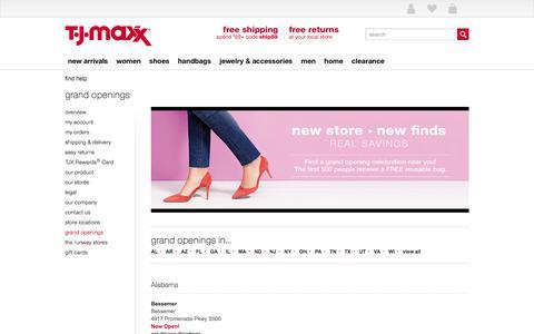 grand openings - T.J.Maxx