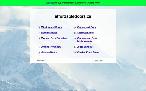 Screenshot of Home Page affordabledoors.ca - affordabledoors.ca - captured Oct. 3, 2018