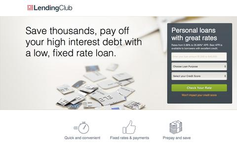 Lending Club | Need a Loan? Get a Low Rate! - Lending Club