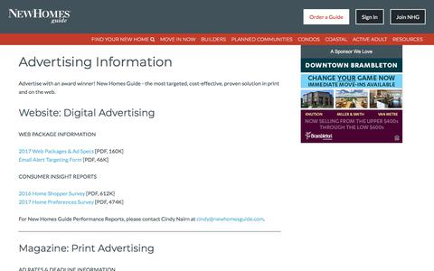 Advertise New Home Communities - New Homes Guide Media Kit