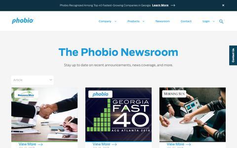Screenshot of Press Page phobio.com - News and Information About Safetrade & Rodio | Phobio - captured July 18, 2018