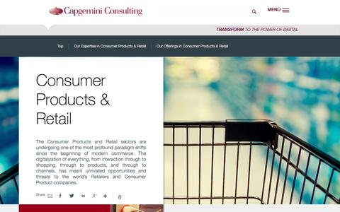 Consumer Products & Retail | Capgemini Consulting Worldwide
