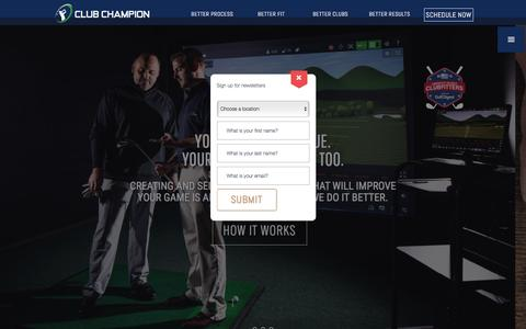 Screenshot of Home Page clubchampiongolf.com - Custom Golf Clubs & Golf Club Fitting | Club Champion Golf - Club Champion Golf - captured Nov. 7, 2016