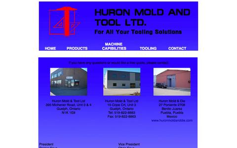 Screenshot of Contact Page huronmoldandtool.com - Huron Mold & Tool Ltd - captured Oct. 3, 2014