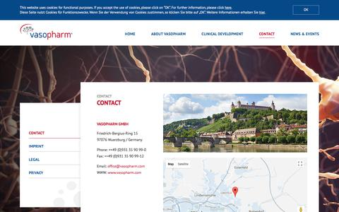 Screenshot of Contact Page vasopharm.com - contact - Vasopharm GmbH - captured Nov. 1, 2017