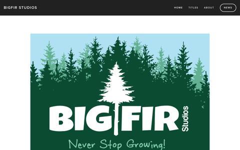 Screenshot of Home Page bigfirstudios.com - BigFIR Studios - captured July 28, 2016