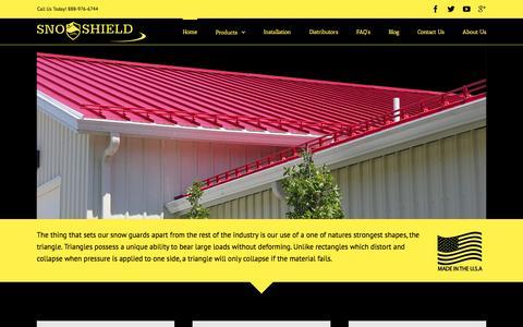Screenshot of Home Page snoshield.com - Home - Sno Shield - captured Feb. 22, 2016