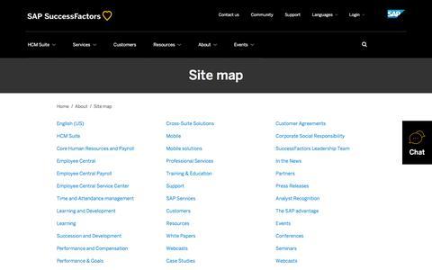 Site map             | SuccessFactors