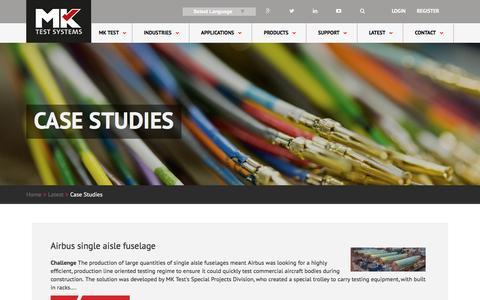 Screenshot of Case Studies Page mktest.com - MK Test - Case Studies - captured Nov. 18, 2016