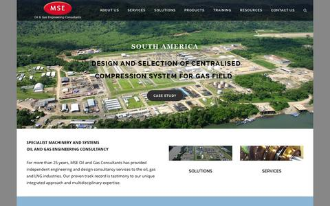 Screenshot of Home Page mse-consultants.com - MSE Oil and Gas Consultants Limited - captured Jan. 21, 2016