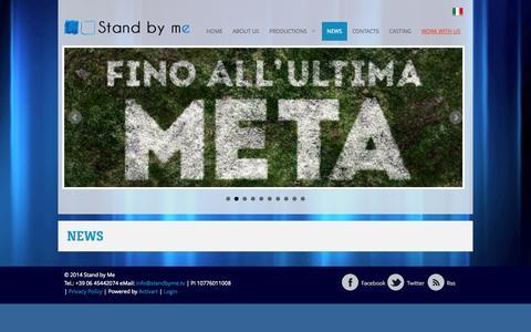 Screenshot of Press Page standbyme.tv - Press - Stand by Me - Società di produzione televisiva - captured Oct. 7, 2014