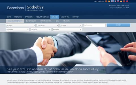 Screenshot of Services Page barcelona-sothebysrealty.com - Sell Your Barcelona Property | Sell Your Barcelona Apartment, Flat or House - Barcelona Sotheby's International Realty - captured April 4, 2016