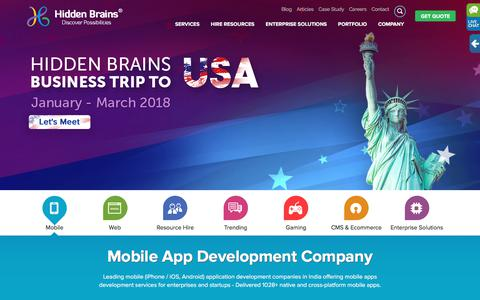 Mobile App Development Company, iPhone, Android, Web Apps Developer India and US