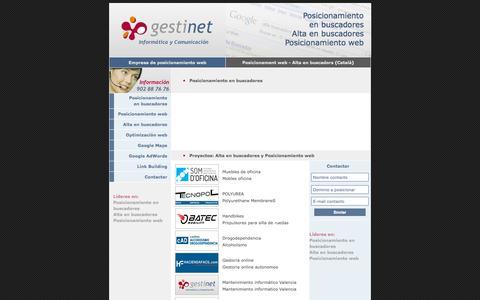 Screenshot of Home Page posicionamientowebyaltaenbuscadores.com - Posicionamiento web en buscadores alta en buscadores empresa barcelona - captured Oct. 9, 2015