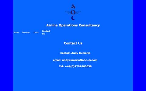 Screenshot of Contact Page aoc.uk.com - AOC - Airline Operations Consultancy - captured Oct. 4, 2014