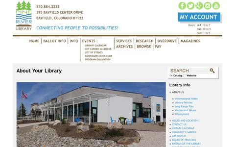 Screenshot of About Page prlibrary.org - About Your Library | prlibrary.org - captured Sept. 28, 2018