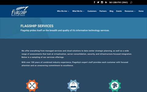 Screenshot of Services Page flagshipsg.com - Services | Flagship Solutions Group - captured Nov. 7, 2015