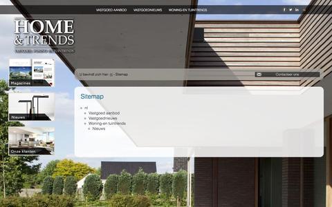 Screenshot of Site Map Page homeentrends.be - Home & Trends - magazine met het betere vastgoed, woning- en tuintrends - Sitemap - captured Jan. 30, 2016
