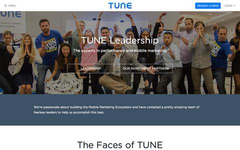 Screenshot of Team Page tune.com - TUNE | Meet The Team - captured Sept. 27, 2015