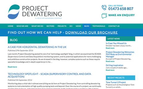 Screenshot of Blog project-dewatering.co.uk - Blog Archives - Project Dewatering - captured Nov. 14, 2016