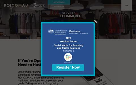 eCommerce - Digital Marketing Solutions | ROI.COM.AU