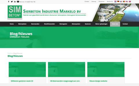 Screenshot of Blog simbeton.nl - Blog/Nieuws   Sierbeton Industrie Markelo bv - captured July 25, 2018