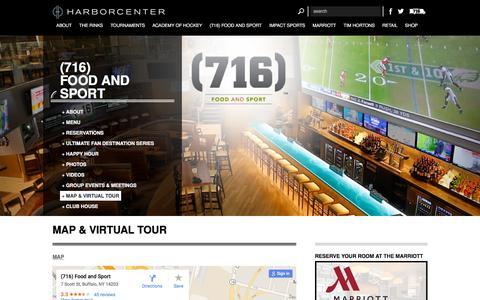 Screenshot of Maps & Directions Page harborcenter.com - MAP & VIRTUAL TOUR | HARBORCENTER - captured Dec. 4, 2015