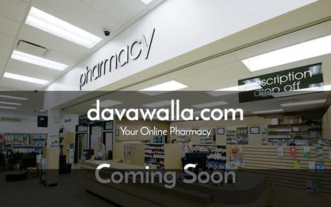 Screenshot of Home Page davawalla.com - Coming Soon - captured Jan. 7, 2016