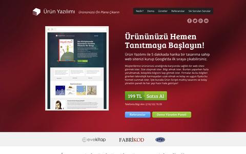 Screenshot of Home Page urunyazilimi.com - Ürün Yazılımı - Ürününüzü Ön Plana Çıkarın - captured March 5, 2016
