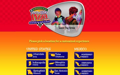 Screenshot of Contact Page incrediblepizzaindy.com - America's Incredible Pizza Company - captured Sept. 23, 2014