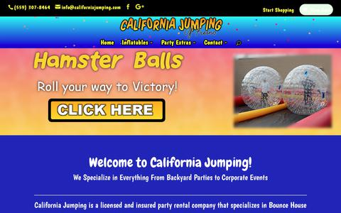 Screenshot of Home Page californiajumping.com - Inflatables & Party Equipment Rentals - California Jumping of Fresno - captured July 11, 2017