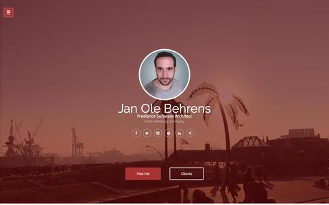 Screenshot of Home Page deegital.com - Jan Ole Behrens, Freelance software architect from Hamburg, Germany - captured Oct. 9, 2018