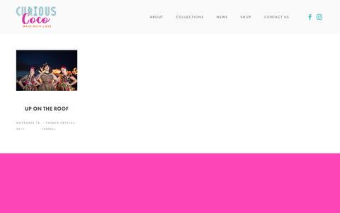 Screenshot of Press Page curiouscoco.com - NEWS — Your Site Title - captured Sept. 29, 2018