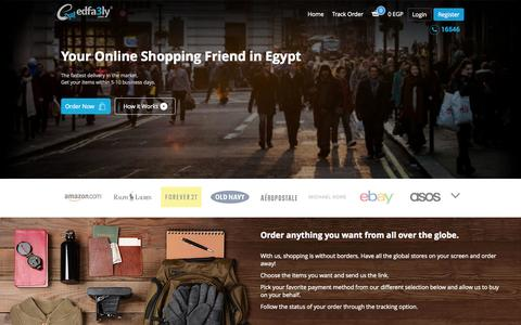 Screenshot of Home Page edfa3ly.co - Your Online Shopping Friend in Egypt - Edfa3ly - captured Jan. 14, 2015