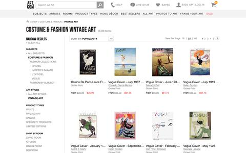 Costume & Fashion  Vintage Art, Posters and Prints at Art.com