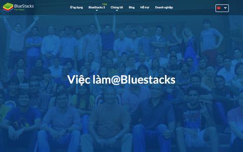 Screenshot of Jobs Page bluestacks.com - Việc làm tại BlueStacks! - captured July 3, 2017