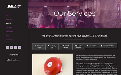 Screenshot of Services Page bellitsecurity.com - Services – Bellit Security - captured Oct. 10, 2017