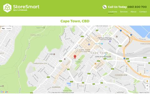 Screenshot of Locations Page storesmart.co.za - Locations : Storesmart - captured May 25, 2017